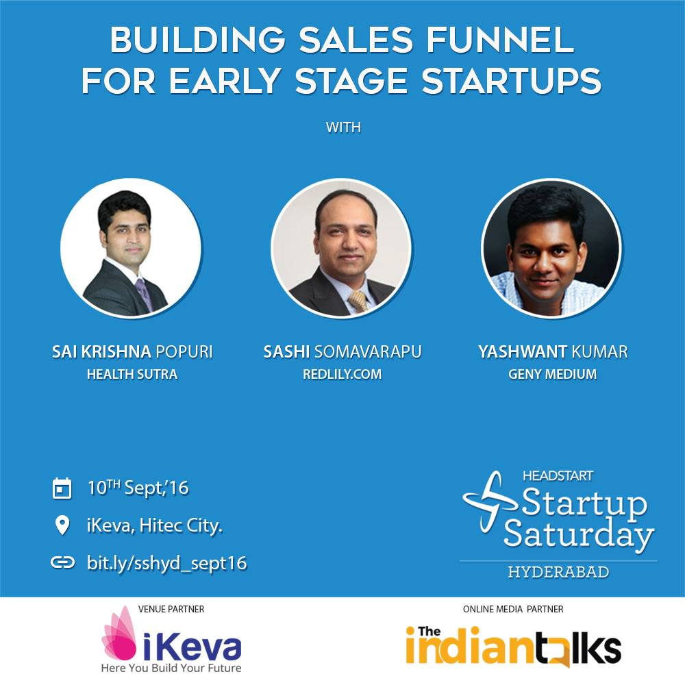 startup saturday hyderabad september